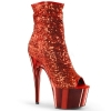 ADORE-1008SQ Red Sequin/Chrome